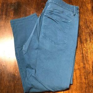LOFT Teal Curvy Skinny Pants